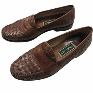 Cole Haan Men's Brown Woven Loafers Size 9.5